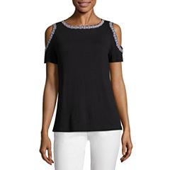 Petites size shirts tops black for women jcpenney for Liz claiborne v neck t shirts
