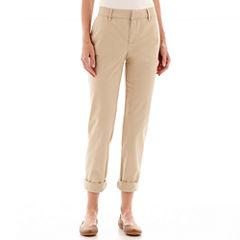 Liz Claiborne® Roll-Cuff Twill Pants