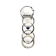 Arizona 5-pc. Multicolor Silver-Tone Ring Set