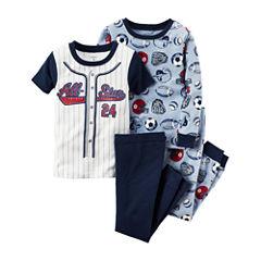 Carter's® 4-pc. Sport Pajama Set - Baby Boys newborn-24m