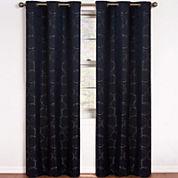 Eclipse® Meridian Grommet-Top Blackout Curtain Panel