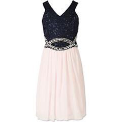 Speechless Sleeveless Party Dress - Big Kid Girls