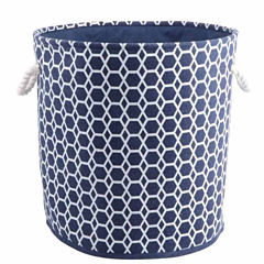 Round Storage Hamper With Rope Handles