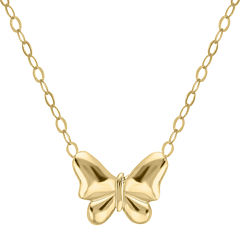 Teeny Tiny® 14K Yellow Gold Petite Butterfly Pendant Necklace