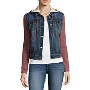 Wallflower Marled-Sleeve Jacket