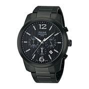 Pulsar® Mens Black Chronograph Watch PT3287
