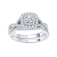 modern bride signature 34 ct tw certified white color enhanced - Jcpenney Wedding Ring Sets