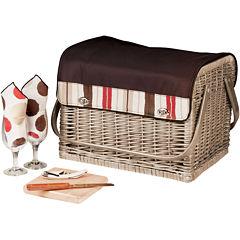 Picnic Time® Kabrio-Moka Wine Basket – Service for 2