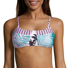 Social Angel Leaf Triangle Swimsuit Top-Juniors