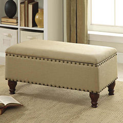 Cassidy Storage Bench with Nailhead Trim