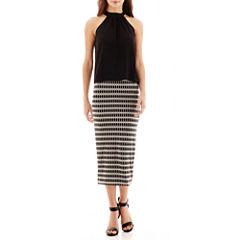 Bisou Bisou® Tie-Back Halter Top or Jersey Pencil Skirt