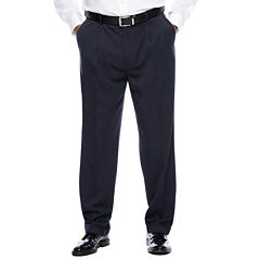 Savane® Micro Mélange Pleated Dress Pants - Big & Tall