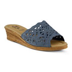 Spring Step Estella Slide Wedge Sandals