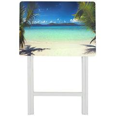 Oriental Furniture Caribbean Beach TV Tray Table