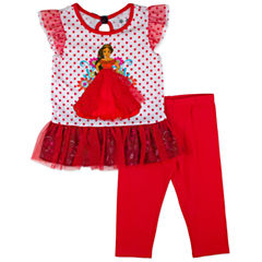 Disney By Okie Dokie 2-pc. Elena of Avalor Legging Set-Toddler Girls
