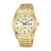 Pulsar® Mens Gold-Tone Expansion Watch PJ6054
