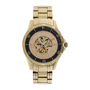 Elgin® Mens Gold-Tone Skeleton Watch