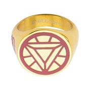 Marvel Iron Man Arc Mens Two-Tone Stainless Steel Ring
