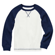 Arizona Long-Sleeve Solid Raglan Thermal Top - Preschool Boys 4-7
