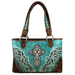 Montana West Grace Cross Tote Bag