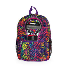 Rainbow Animal Print Backpack with Headphones