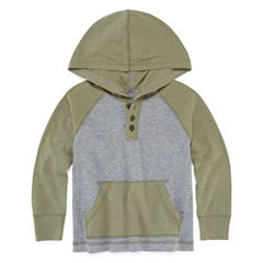 Arizona Boys Hooded Henley T-Shirt - Toddler 2T-5T