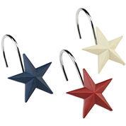 Avanti Texas Star Shower Curtain Hooks