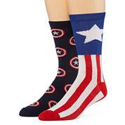 Marvel® Captain America 2-pk. Casual Crew Socks