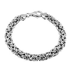 Made in Italy Sterling Silver Byzantine Bracelet
