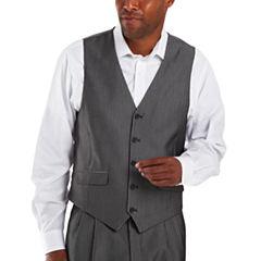 Steve Harvey® 5-Button Striped Suit Vest
