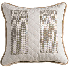 HiEnd Accents Fairfield Square Inset Decorative Pillow