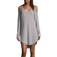 Ambrielle Long Sleeve Henley Neck Nightshirt
