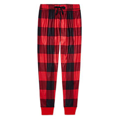Arizona Boys Red Buffalo Print Jogger Sleep Pant - Big Kid