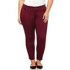 Arizona Skinny Fit Slim Pants-Juniors Plus