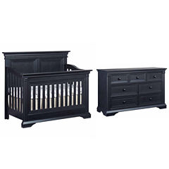 Ozlo Baby Galloway 2-PC Baby Furniture Set-Navy Mist