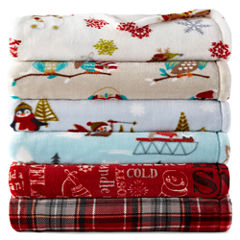 North Pole Trading Co.™ Velvet Plush Holiday Throw