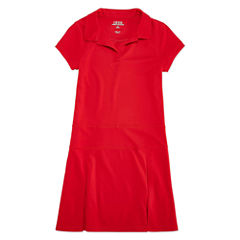 Izod Exclusive Short Sleeve Shirt Dress - Preschool Girls