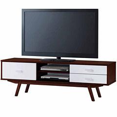 RTA Products LLC Techni Mobili Retro Wood Veneer TV Stand