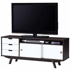 RTA Products LLC Techni Mobili Modern Wood Veneer TV Stand