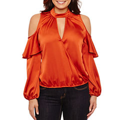 Bisou Bisou Ruffle Surplice Top