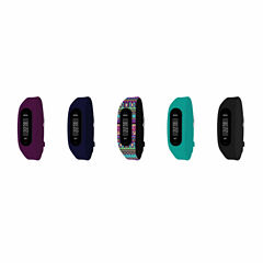 B-fit Women's Activity Tracker & 5pc. Interchangeable Band Set-Bfs2351bk659-078