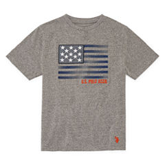 U.S. Polo Assn. Short Sleeve Crew Neck T-Shirt-Big Kid Boys