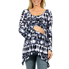 24/7 Comfort Apparel Fantasy Batik Everday Glamour Tunic Top Maternity