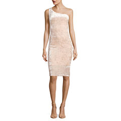 Belle + Sky Velvet One Shoulder Bodycon Dress