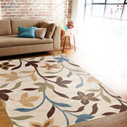 Alpine Floral Vines Rectangular Rug