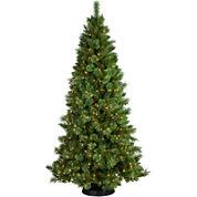 7½' Pre-Lit Sheridan Pine Cashmere-Style Clear Lights Christmas Tree