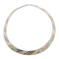 Made in Italy Tri-Tone Flex Necklace