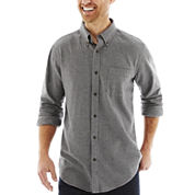 St. John's Bay® Long-Sleeve Legacy Houndstooth Flannel Shirt