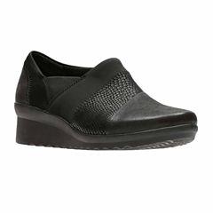 Clarks Caddell Denali Womens Slip-On Shoes