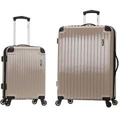 Rockland Santorini 2‑Piece Hardside Spinner Luggage Set